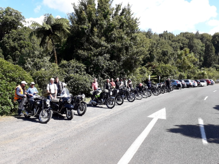 Velo line up at THE bRIDAL wATERFALLS  Springs Waterfall